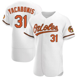 Jimmy Yacabonis Baltimore Orioles Men's Authentic Home Jersey - White