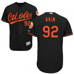 Keegan Akin Baltimore Orioles Youth Authentic Majestic Flex Base Alternate Collection Jersey - Black