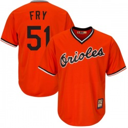 Paul Fry Baltimore Orioles Youth Replica Majestic Cool Base Alternate Jersey - Orange